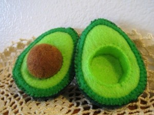 Felt Avocado Play Food
