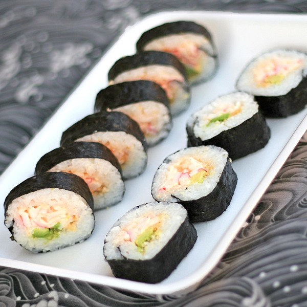 spicy crab sushi