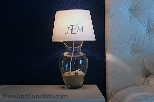 DIY Hidden Lampshade Monogram