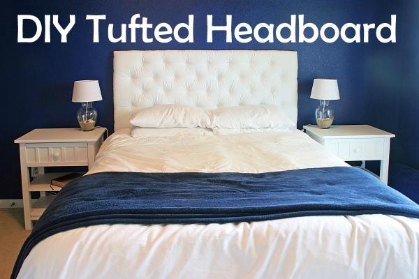 diy headboard tufted