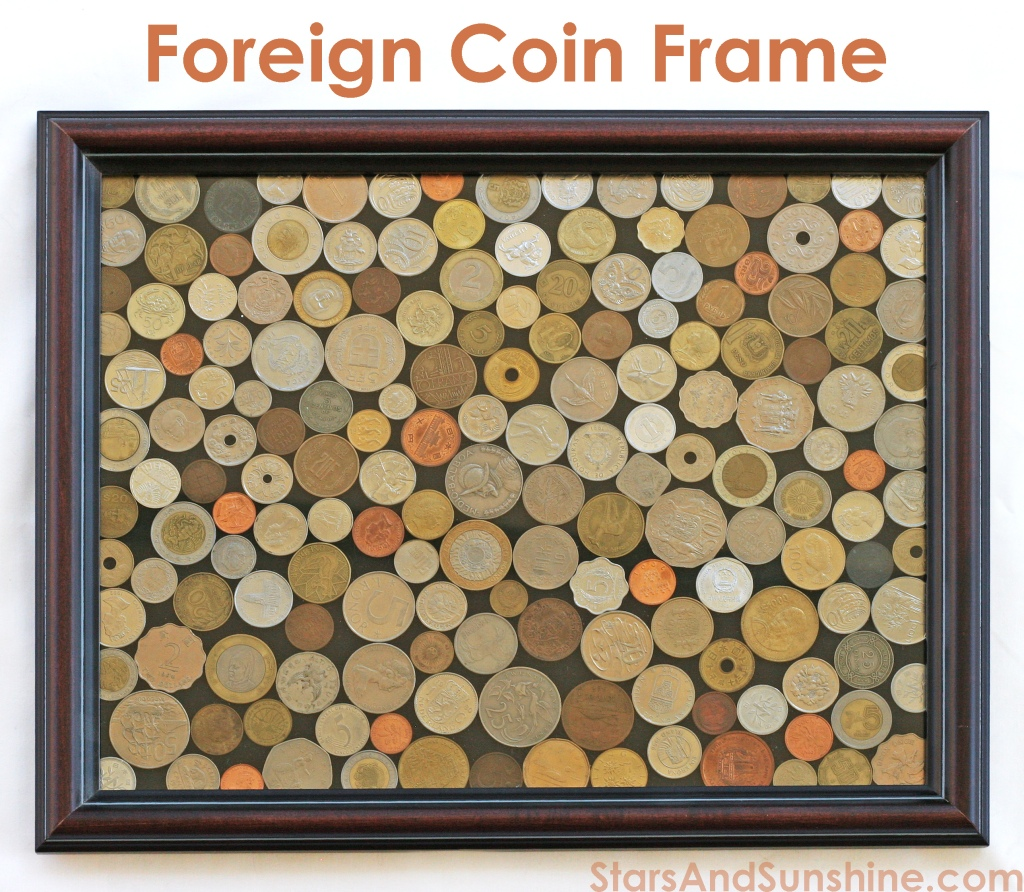 Foreign Coin Display Frame