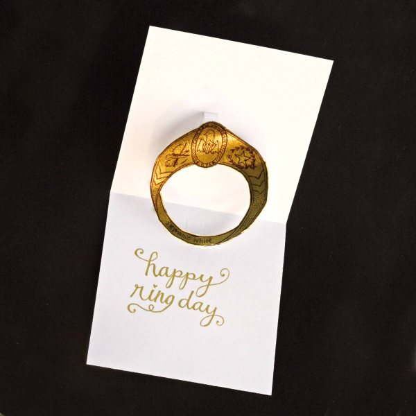 DIY Aggie Ring Card