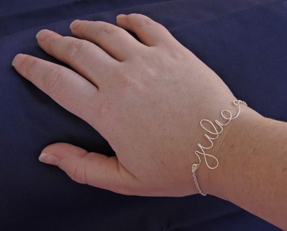 DIY Wire Name Bracelets