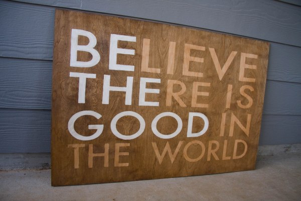 Believe there is good wood stain plywood sign