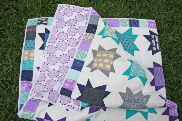 Wonky Jewel Star Quilt