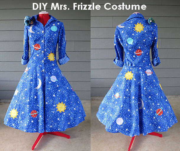 diy mrs frizzle costume