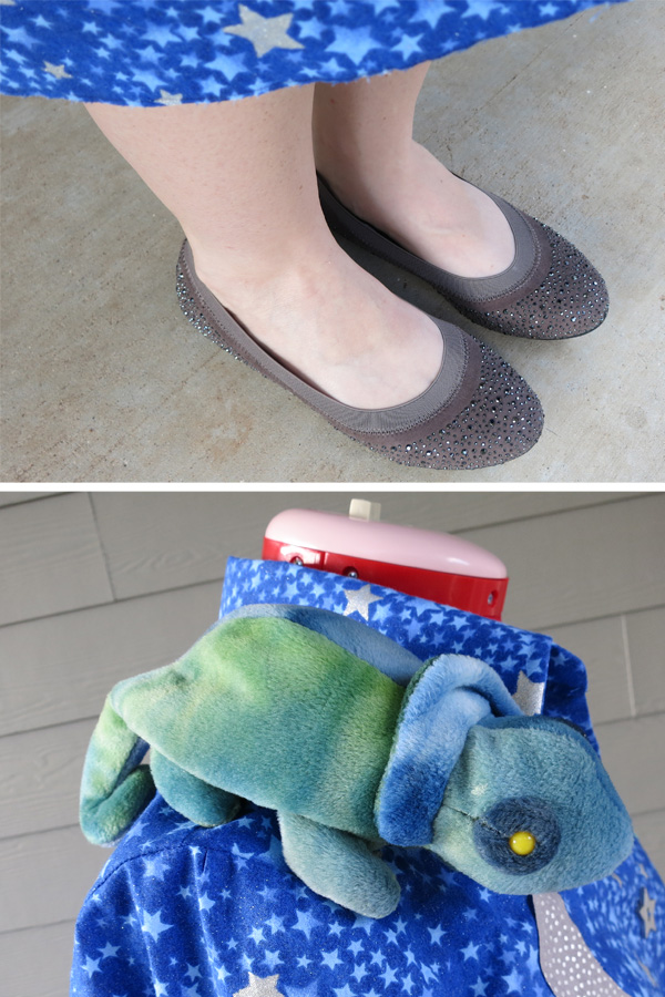 Mrs. Frizzle costume accessories - Liz and sparkly shoes