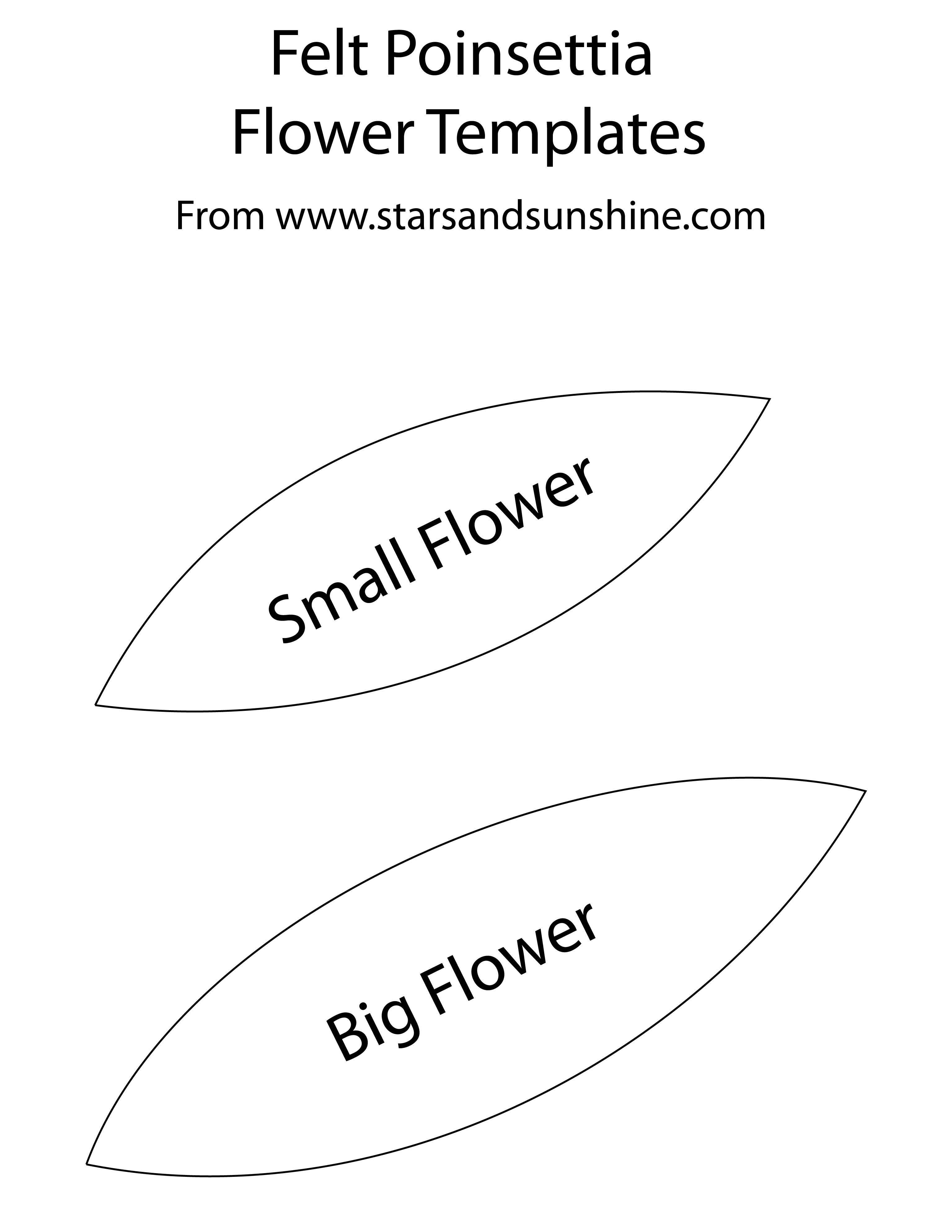 Printable Flower Petal Template Pattern Poinsettia petal template