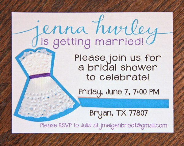 Doily Dress Shower Invite