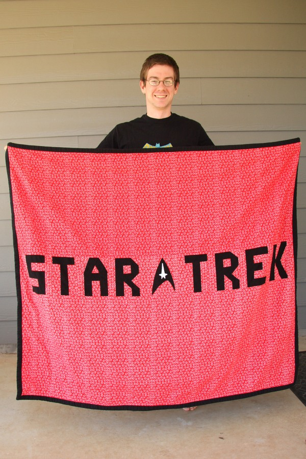 star trek blanket back