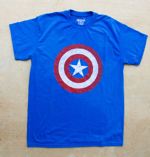 diy freezer paper stencil captain america t-shirt