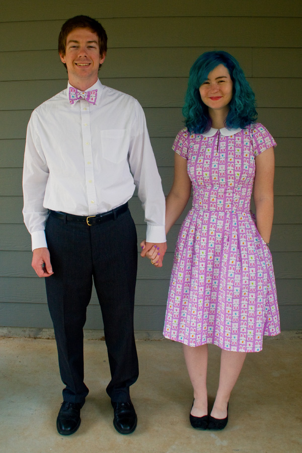 Easter Dress and Matching Bowtie